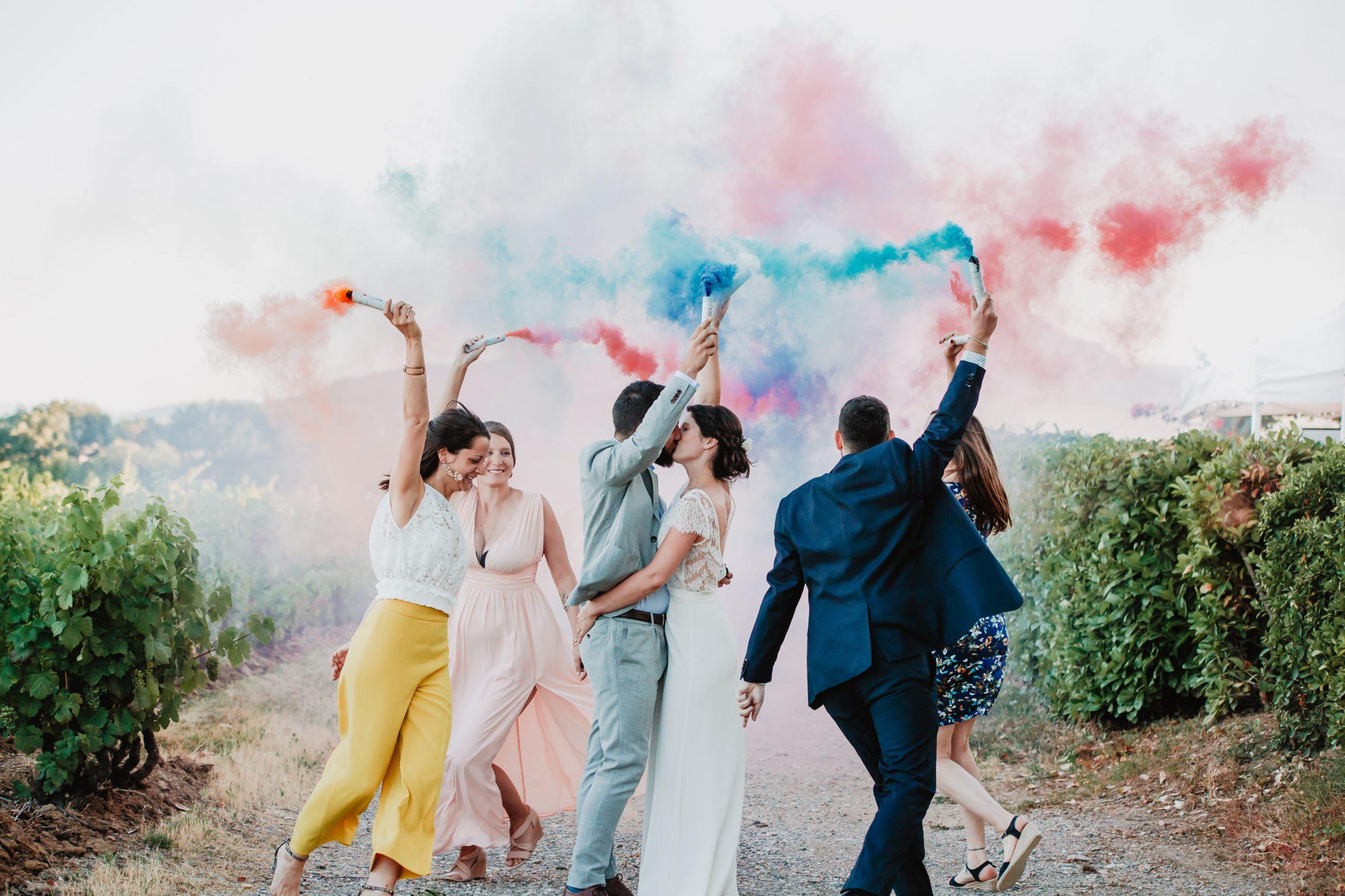 photos témoins mariage mariés