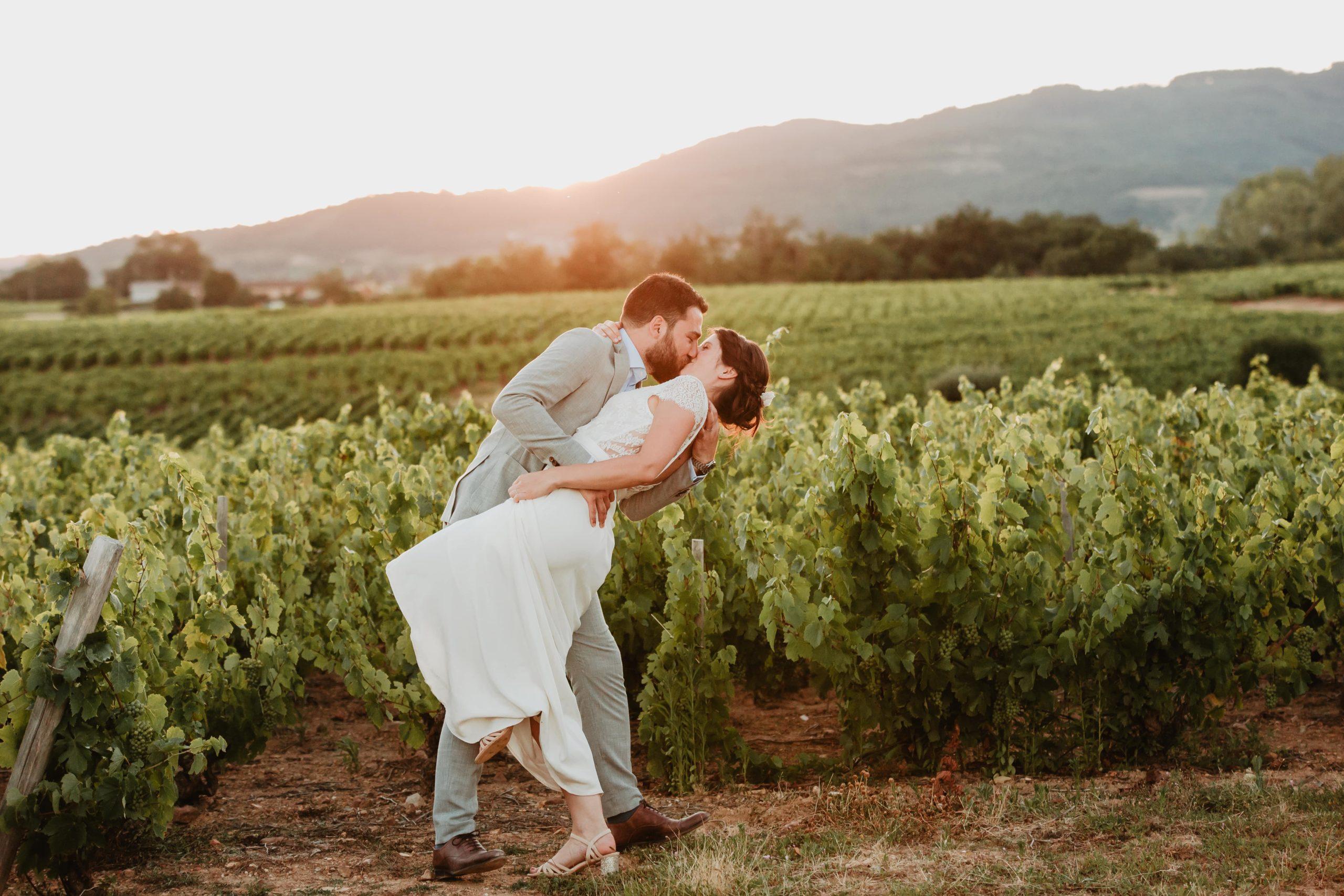 photos de couple mariage vigne