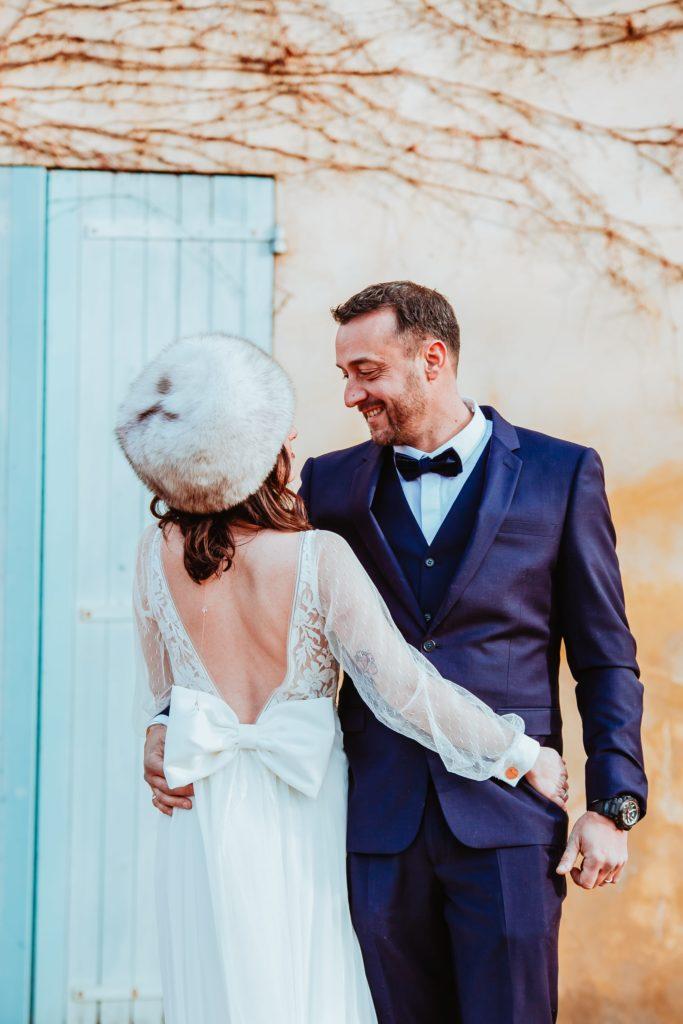 photos de couple mariage hiver