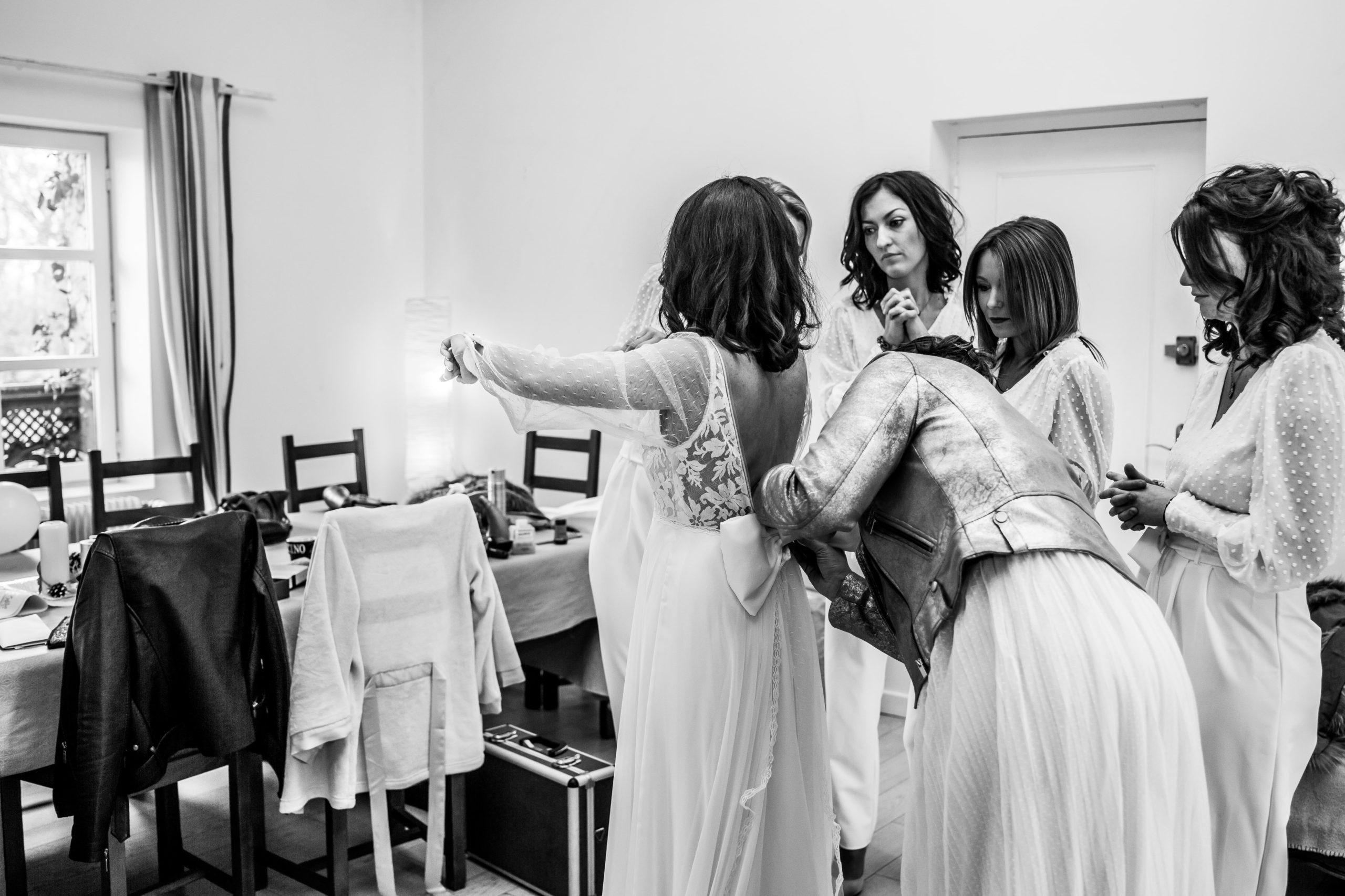 robe mariée témoins