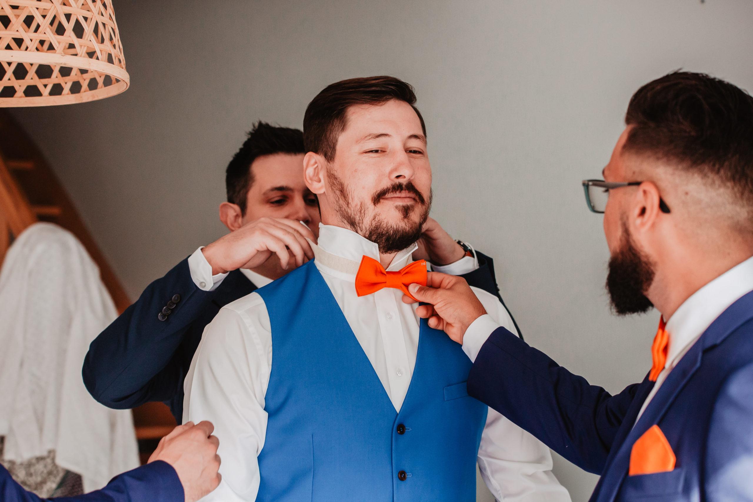 préparatifs marié