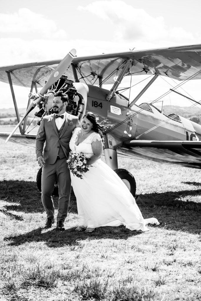 avion vintage mariage