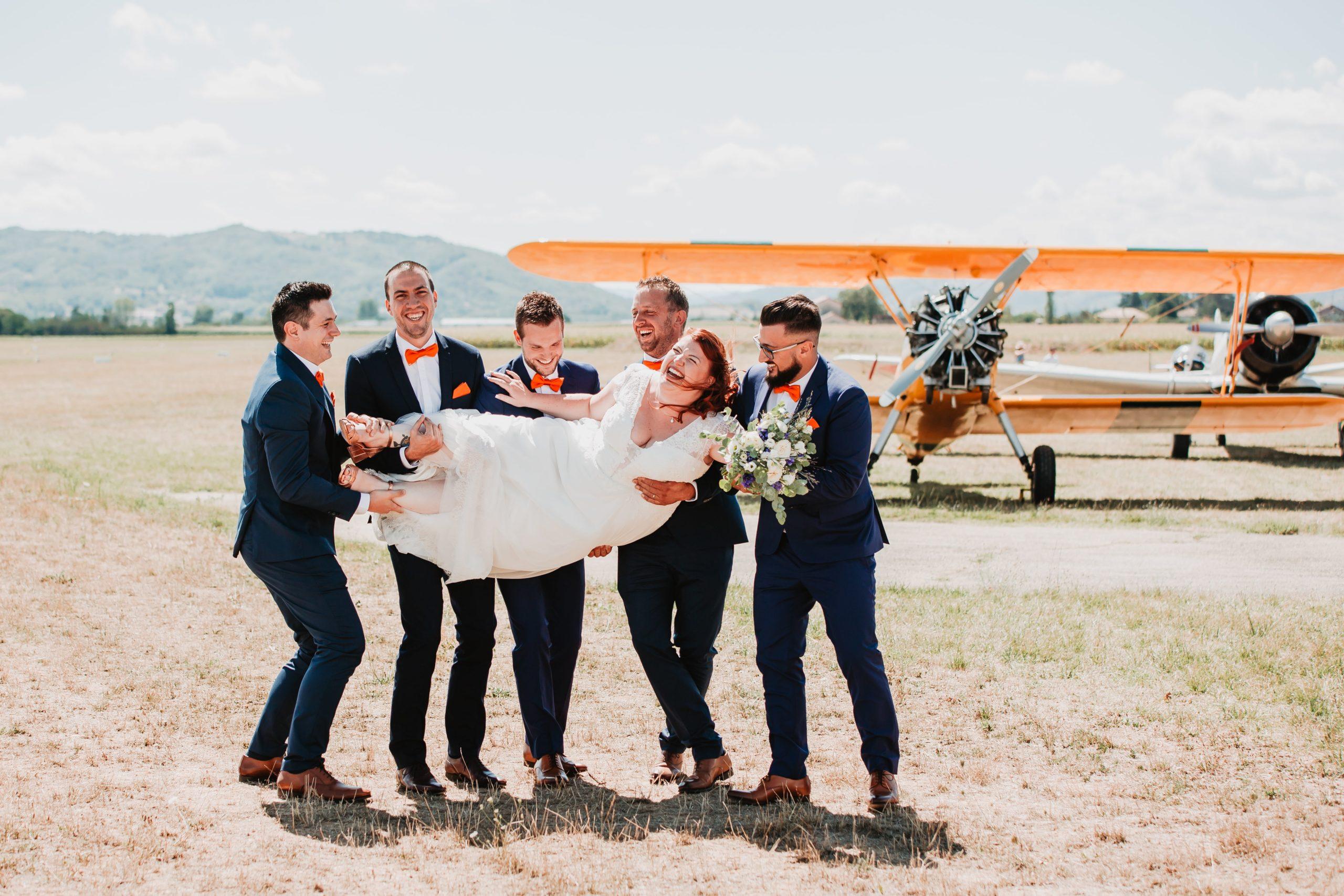 mariage témoins avions