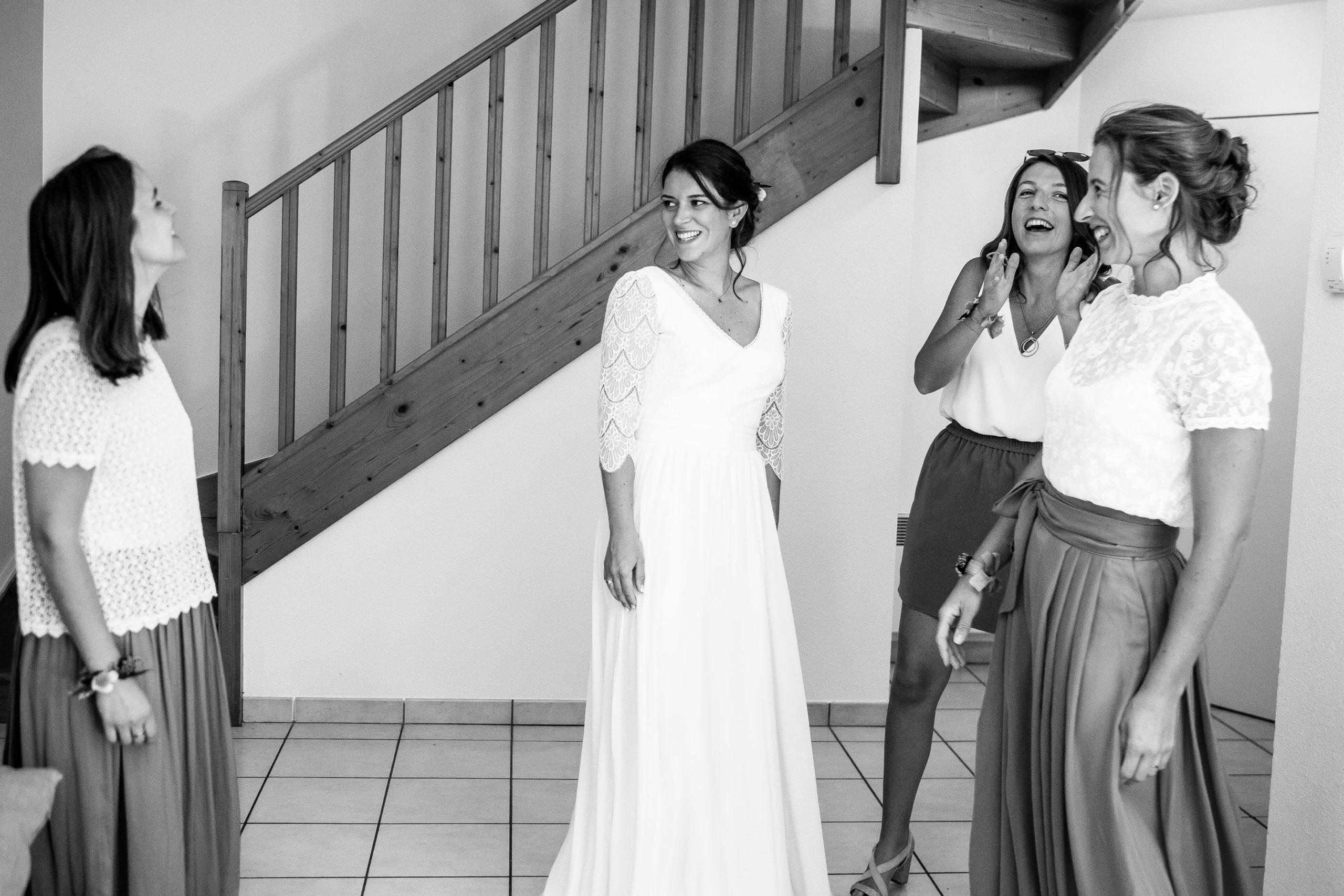 préparatifs mariée et témoins