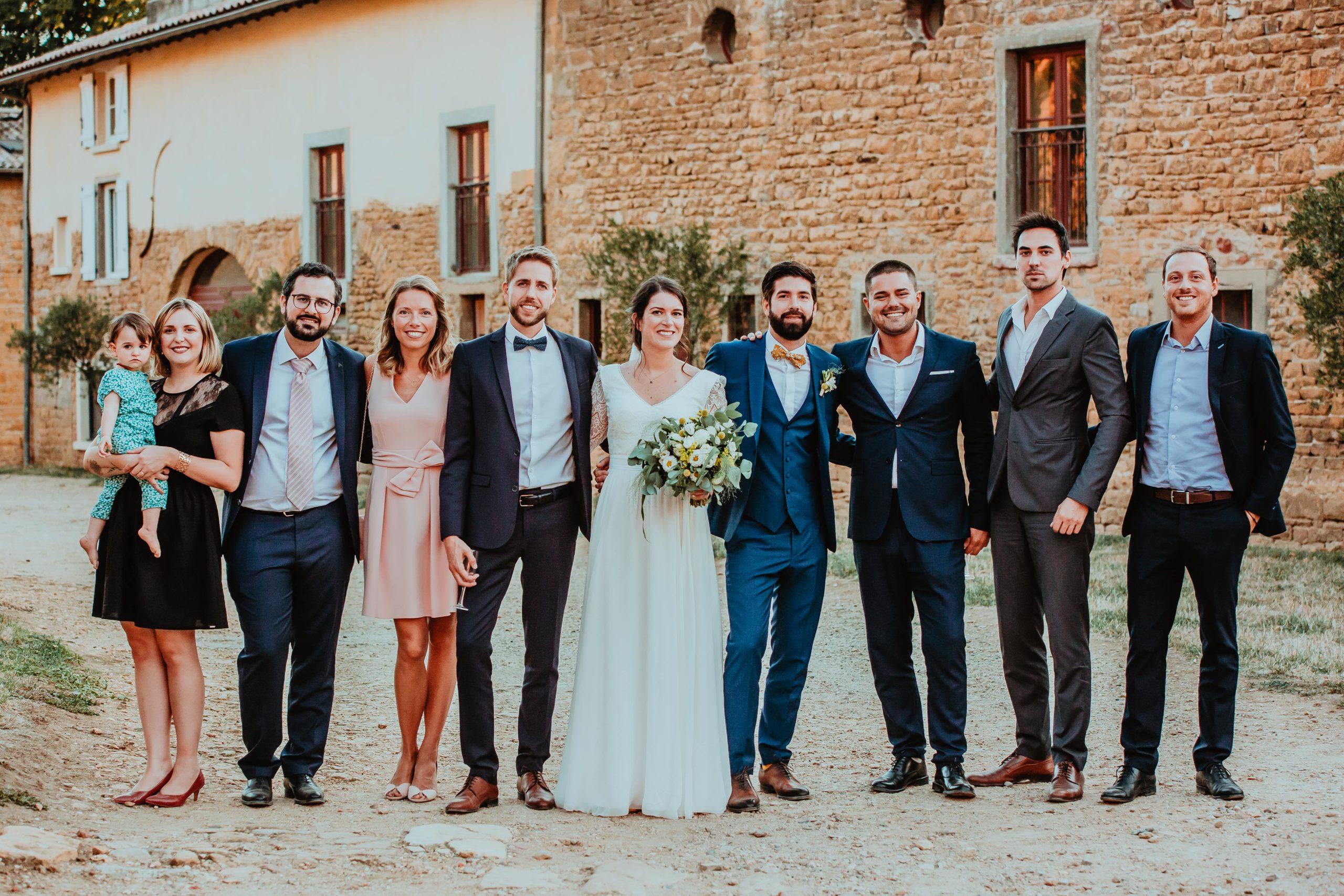 photos de groupe mariage