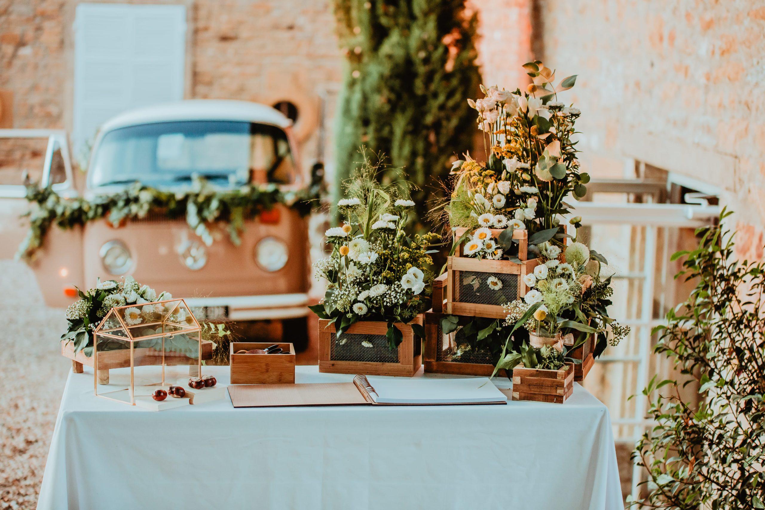 décoration bohème champêtre mariage